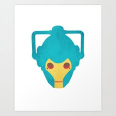 Colorful Cyberman Doctor Who Art Print