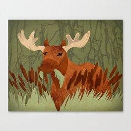 Moose Munch Canvas Print