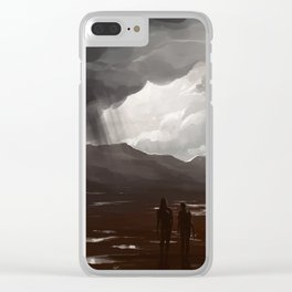 Told ya flip-flops were the wrong shoes for this quest Clear iPhone Case