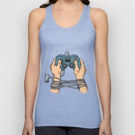 Hands tied by wire Unisex Tank Top