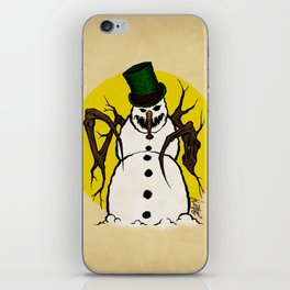 Sinister Snowman iPhone Skin
