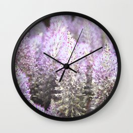 Mosaic Purple Flowers Wall Clock
