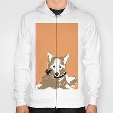 Akita Dog Illustration Hoody