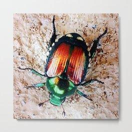 Summer Beetle Metal Print