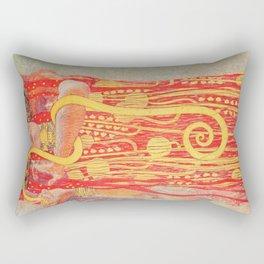 Gustav Klimt - Greek Goddess of Medicine Hygeia Rectangular Pillow