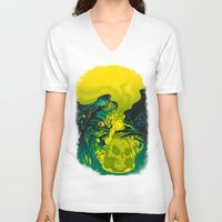 mad V-neck T-shirts featuring MAD SCIENCE! by BeastWreck