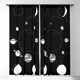 Celestial Circles Blackout Curtain