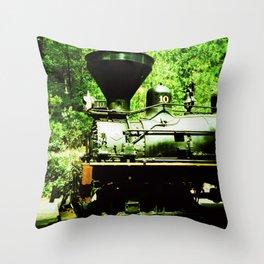 Train at Sugar Pine Railroad Throw Pillow