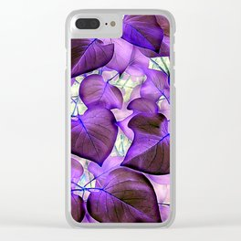 Red Bud Leaves - IA Purple Clear iPhone Case
