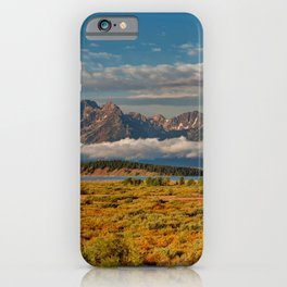 TheGrand Teton National Park in the Fall Panorama iPhone Case