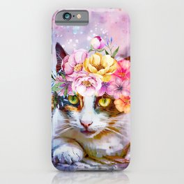 Flower Power Pussycat iPhone Case