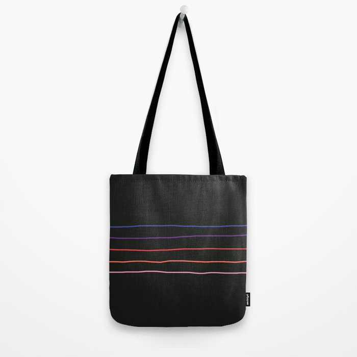 Classic Abstract Minimal Rainbow Retro Summer Style Stripes #4 Tote Bag