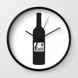 NOTHING #4 - Bottoms Up Wall Clock