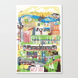 Portland West Side Canvas Print