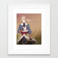 fire emblem Framed Art Prints featuring Fire Emblem Fates Takumi by Cycha