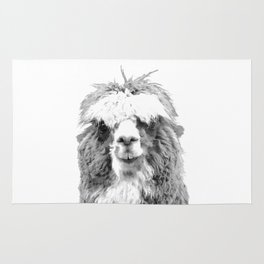 Black and White Alpaca Rug