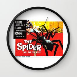 The Spider, vintage horror movie poster Wall Clock