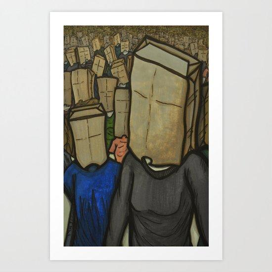 No Face, No Name Art Print