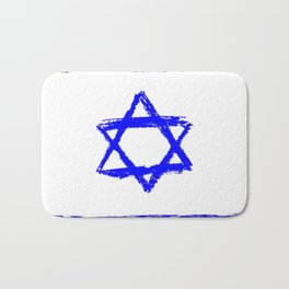 flag of israel 9-יִשְׂרָאֵל ,israeli,Herzl,Jerusalem,Hebrew,Judaism,jew,David,Salomon. Bath Mat