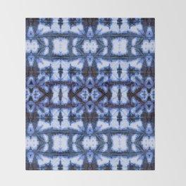 Blue Oxford Shibori Throw Blanket