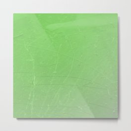 Shattered green flash ombre gradient Metal Print