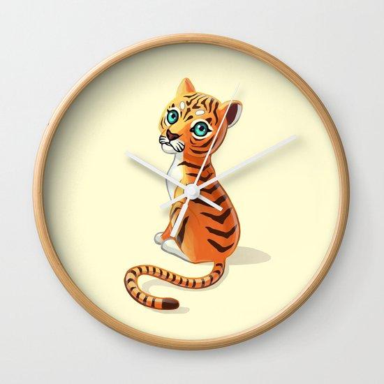Tiger Cub Wall Clock