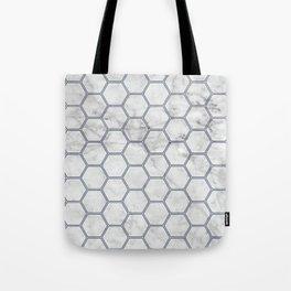 Honeycomb Marble Navy #871 Tote Bag