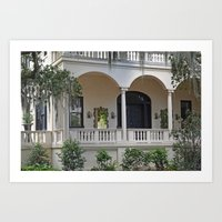 Southern Charm in Savannah Art Print