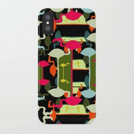 Flamingos abstract iPhone Case