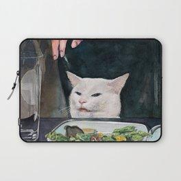 Woman Yelling at Cat Meme-2 Laptop Sleeve