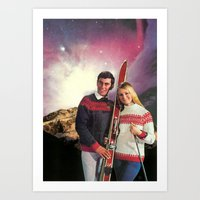 ski Art Prints featuring Ski Stars by Peter Campbell