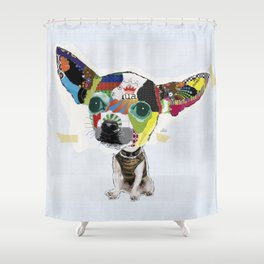 Chihuahua Colorful Dog POP Art Collage Shower Curtain
