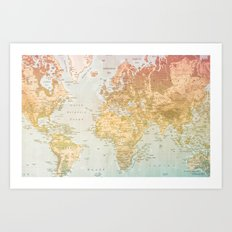 Pastel World Art Print