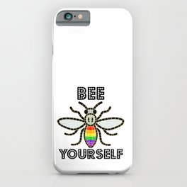 Rainbow Bee iPhone Case