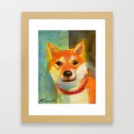 Shibainu on canvas Framed Art Print