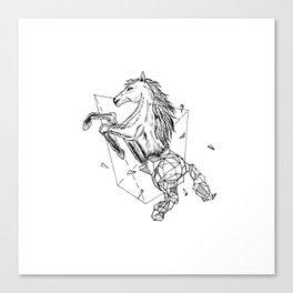 Geometric Season1:7 Horse Canvas Print