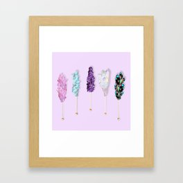 Mineral Rock Candy Framed Art Print