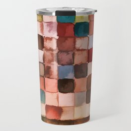 Colorful gift - Geometric watercolor Travel Mug