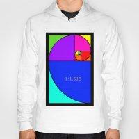 fibonacci Hoodies featuring Fibonacci Spiral by Arts and Herbs