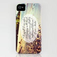 Isaac Newton Beach Quote Slim Case iPhone (4, 4s)