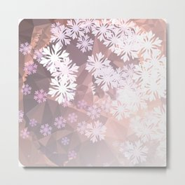 Snowflakes winter dance Metal Print