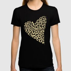 Wild Love Womens Fitted Tee SMALL Black