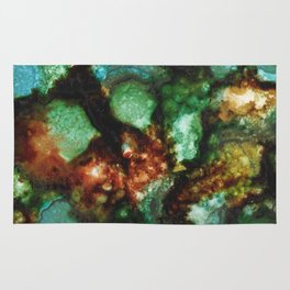Geode I, Malachite Rug