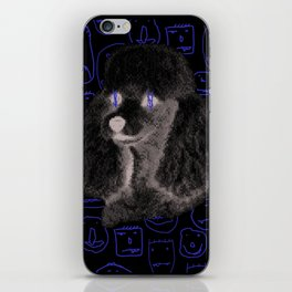 Poodle Print iPhone Skin