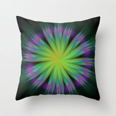 Sonic Bloom Throw Pillow