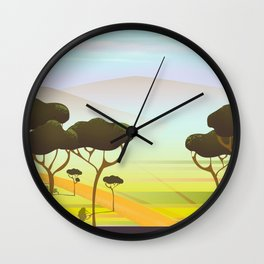 Siracusa Italy travel poster Wall Clock