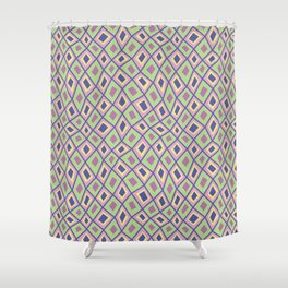 Diamonds are Forever-Coolio Colors Shower Curtain