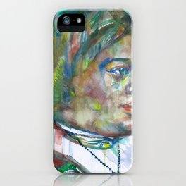 MARY MCLEOD BETHUNE watercolor portrait.1 iPhone Case