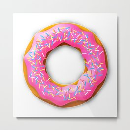 pink donut baker colorful Metal Print