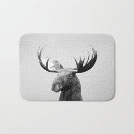 Moose - Black & White Bath Mat